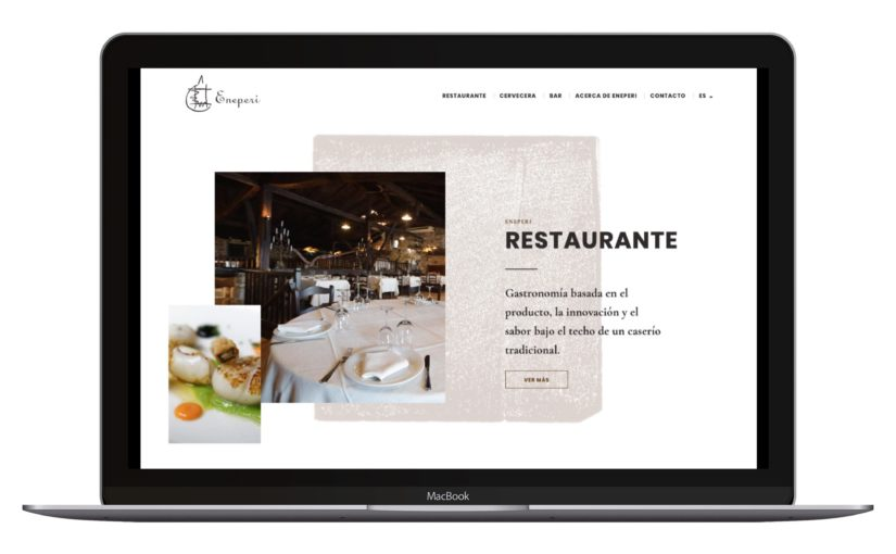 Eneperi Restaurant website